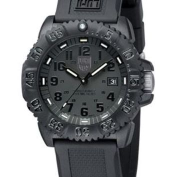 Luminox EVO Navy SEAL Colormark Black Out - All-Black Design - Rubber Strap