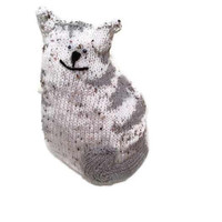 Cat Door Stop - Lavender Scented, Cute Knitted CHRISTMAS Gift, Color of Your Choice, Made to Order