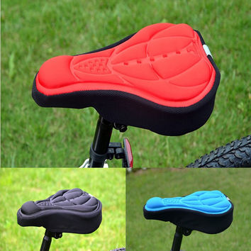 Cycling Bike 3D Comfortable Silicone Gel Pad Seat Saddle Cover Soft Cushion lb SS