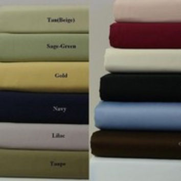 "21"" Deep Pocket -300TC Solid Egyptian Cotton Luxury Bed Sheet Sets Color: Burgundy Size: Olympic Queen"