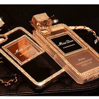 Hot Sale Fashion Bling Cover For Iphone 5s Case Mobile Phone Case Cute Bling Crystal Rhinestone TPU Cover for Iphone 5