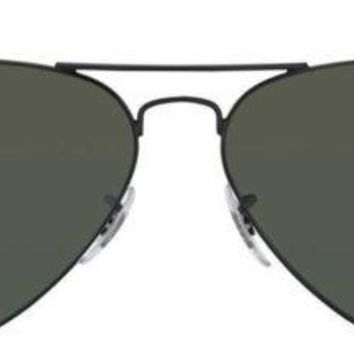 Ray-Ban Aviator Polarized 3025 002/58 Aviator Dark Frame Dark Lenses Sunglasses