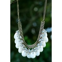 Ripple Effect Necklace-Ivory