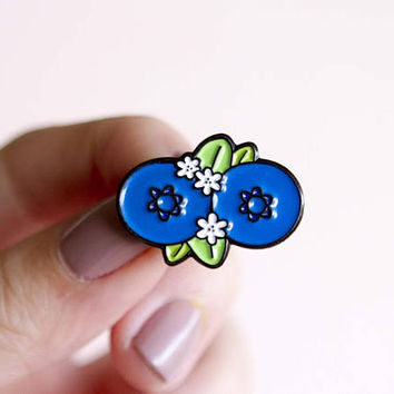 Booberries Enamel Pin Feminist Enamel Pin- Boobs Blueberries Feminist Gift Breast Women' Rights Reproductive Rights Girl Power Art