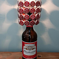 Budweiser 40 Oz Bottle Lamp Complete With Bottle Cap Lamp Shade - The Ultimate Light