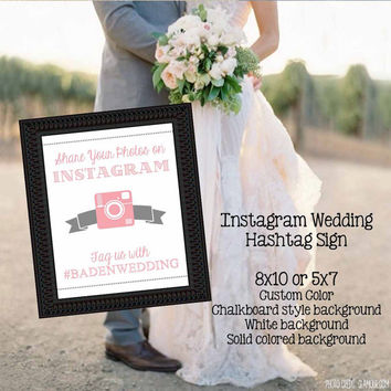 Instagram Wedding Hashtag Sign // Printable // If You Instagram
