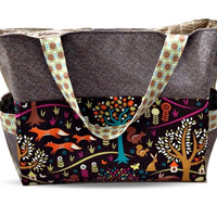 Large Nappy Bag/Diaper Bag in Woodland Fox