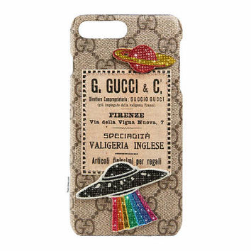 Custom Gucci Courrier iPhone Case Made with Swarovski Elements