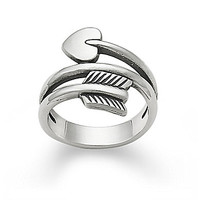 James Avery Arrow & Heart Ring - Silver 8
