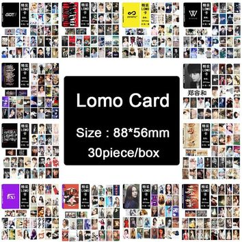 Youpop KPOP BIGBANG/EXO/BTS/BLACKPINK/F(x)/GOT7/IKON/INFINITE/RED VELVET/SJ/ NCT127/SNSD Album LOMO Small Cards Photos Photocard