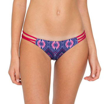 Mary Grace Swim || Camilla reversible bottom in sea nymph/red coral