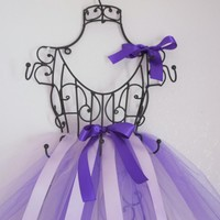 Tutu Hair Bow Holder in Purple & Lavender- Wire Frame, French Vintage Inspired- Baby Shower Gift, Girls Room Decor