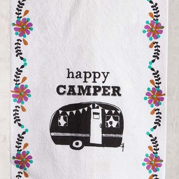 Happy Camper Emb Kitchen Towel By Natural Life
