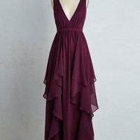 Long Sleeveless A-line Stately Slow Dance Dress