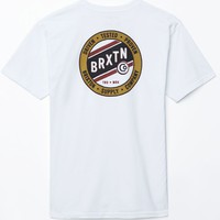 Brixton Cannon T-Shirt - Mens Tee - White