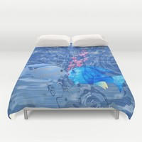 Fish In Love Duvet Cover by Macsnapshot