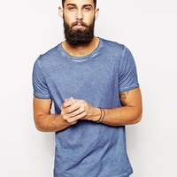 ASOS T-Shirt With Oil Wash - Blue
