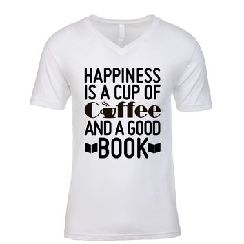 Happiness Is A Cup Of Coffee And A Good Book Men's V Neck