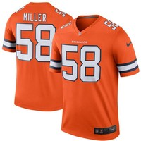 Men's Denver Broncos Von Miller Nike Orange Color Rush Legend Jersey