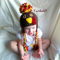 Turkey Hat Photo Prop Gift Ideas Boy Beanies Girl Hat Winter Clothes for Kids