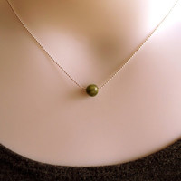 The Princess And The Pea Stone And Silver Ball Chain Necklace SRAJD
