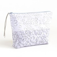 Forever Mountains and Popcorn Clouds Boxy Zipper Pouch   Organic Cotton Sateen