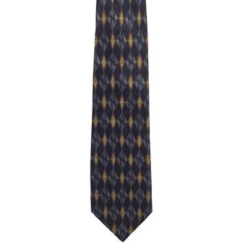 Hill & Archer Foulard Wide Silk Tie - Blue
