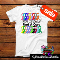 Take a Stand Find a Cure Shirts For Cancer and Disease Awareness