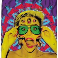 Miley Cyrus Psychedelic Shower Curtain