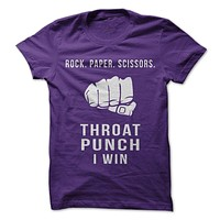 Rock Paper Scissors Throat Punch I Win