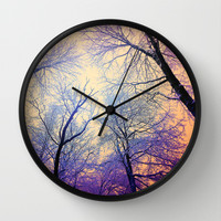 Snow Angel's View - Nature's Painting (color 2) Wall Clock by soaring anchor designs ⚓