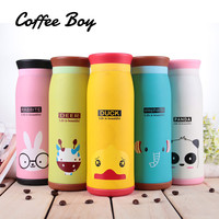 Coffee Boy Cartoon Animal Thermo Cup Thermos Mug Stainless Steel Thermos Bottle Vacuum Flasks termos thermocup #CB103-500ml