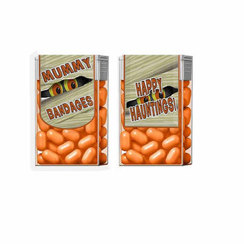 Tic Tac, Label, Halloween, Mummy Favor, Mint Favors, Halloween Favors, Personalized Favors, Instant Download, Party Favors, Tic Tac Favors