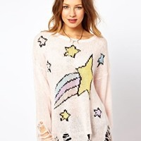 Wildfox Shooting Star Loose Knit Jumper at asos.com