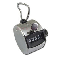 Digital Chrome Hand Tally Counter 4 Digit Number Clicker Golf 0000 to 9999   1359|26601 = 1745494468