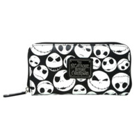 The Nightmare Before Christmas Jack Heads Zip Wallet
