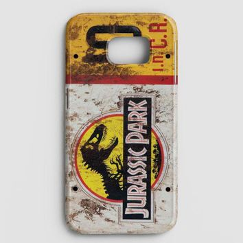 Jurassic Park Jeep License Plate 10 Samsung Galaxy S8 Case