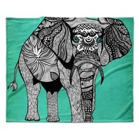 "Pom Graphic Design ""Elephant of Namibia Color"" Fleece Throw Blanket"