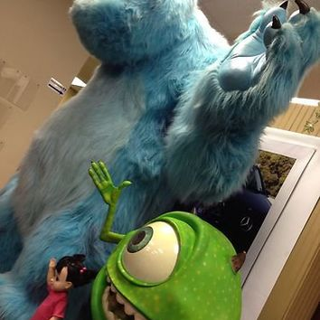 Disney Pixar Life Size Monsters Inc Sulley Mike and Boo Full Size Props