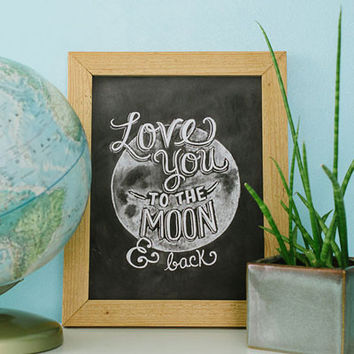 Love You to the Moon & Back - Print