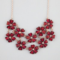 FULL TILT 2 Row Flower Statement Necklace 232305320 | Necklaces