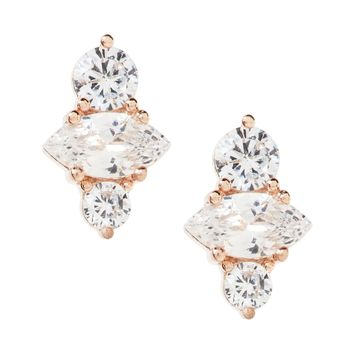 Aligned Marquise Asymmetrical Stud Earring | Banana Republic