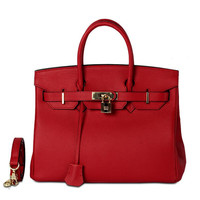 Hermes Birkin Style Genuine Leather Bag