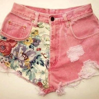 Pink Floral Shorts by SheaBoutique on Etsy