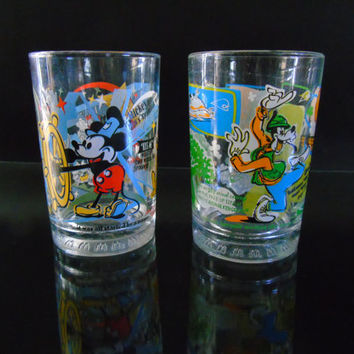 Disney Trivia Tumbler Glasses 100 Years of Magic Share A Dream Come True McDonalds