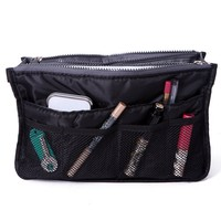HDE Expandable 13 Pocket Handbag Insert Purse Organizer with Handles