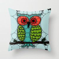 Curiosity Never Killed an Owl Throw Pillow by Beth Thompson | Society6