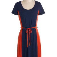 Orange Blueberry Bread Dress | Mod Retro Vintage Dresses | ModCloth.com