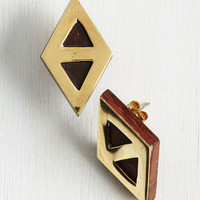 Minimal Up, Down, and Around Town Earrings by Mata Traders from ModCloth