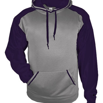 Badger 1468 Sport Heather Hood - Steel Heather Purple